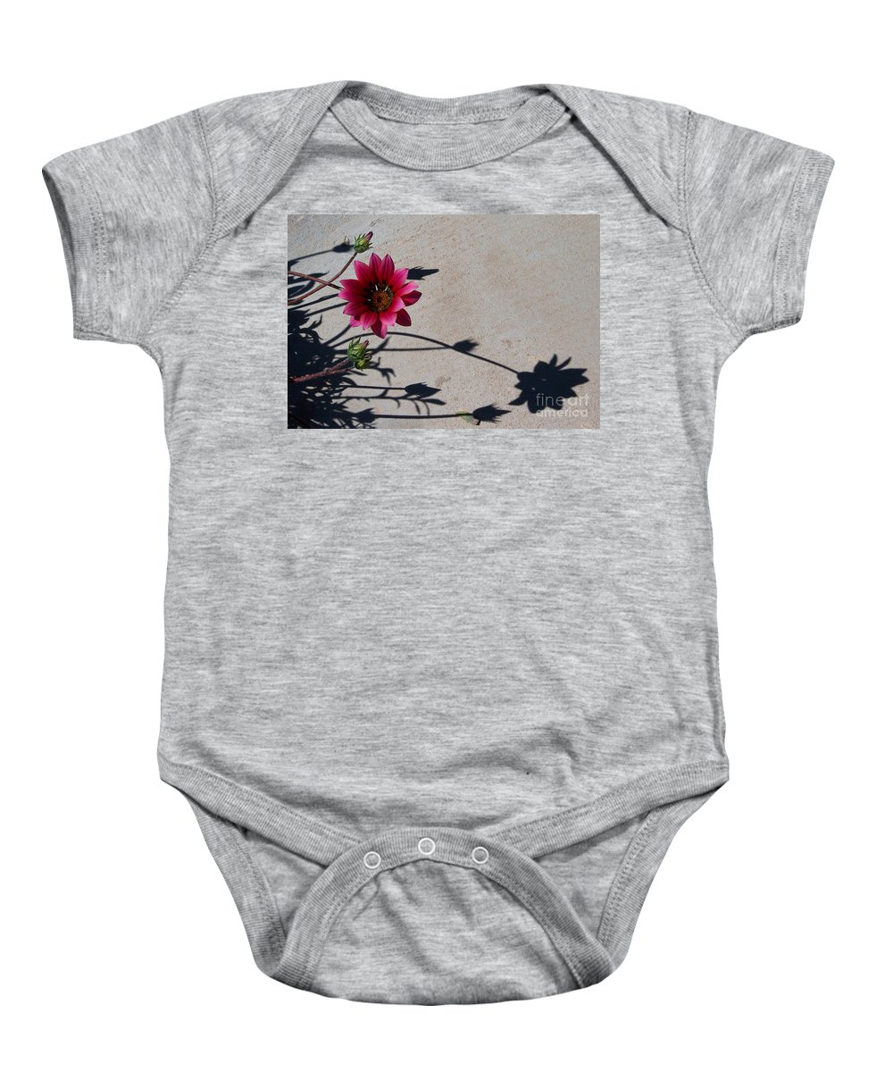 Flowers Baby Onesie featuring the photograph Me And My Shadow by Kathy McClure