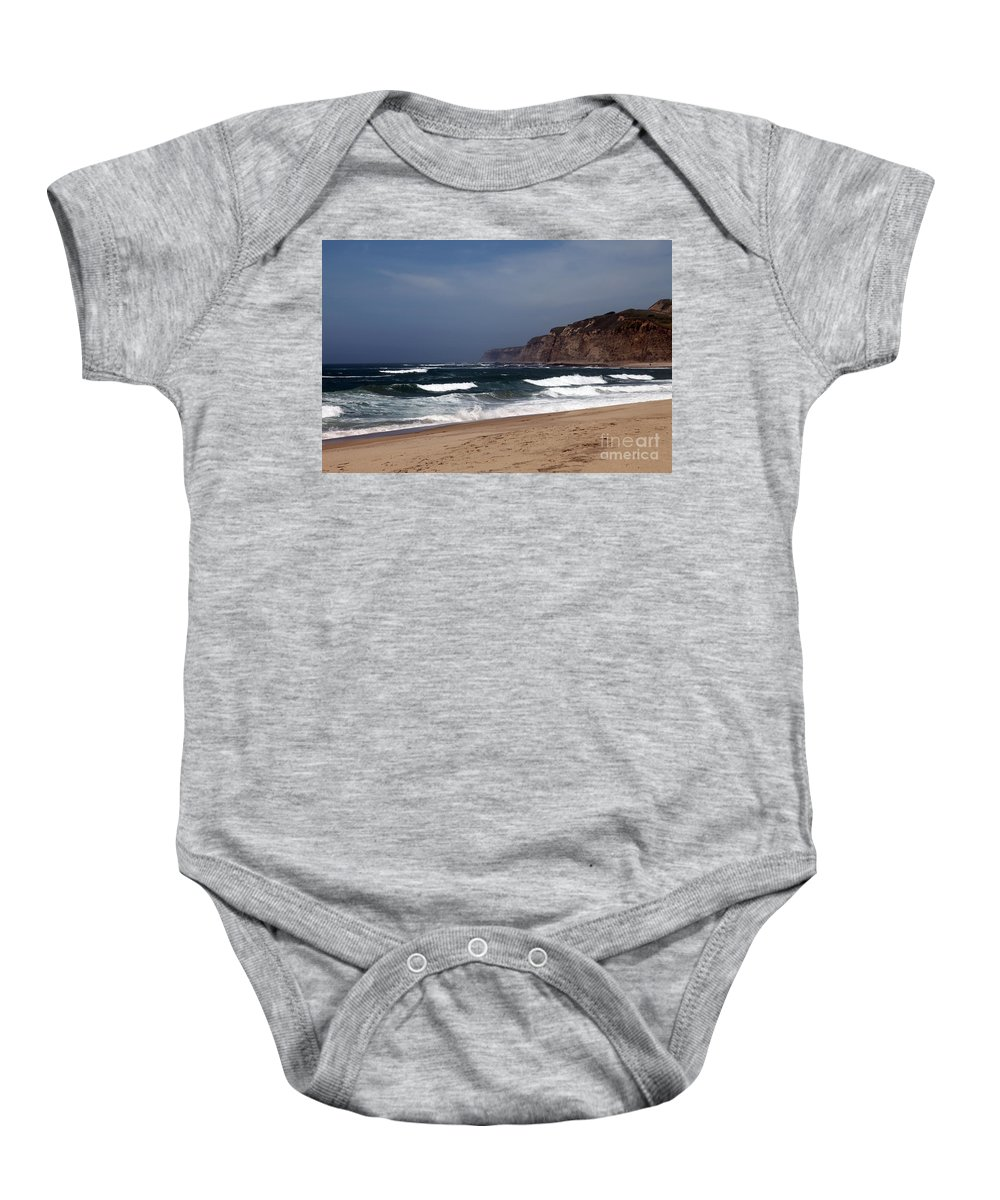 California Baby Onesie featuring the photograph Meeting Of The Minds by Amanda Barcon