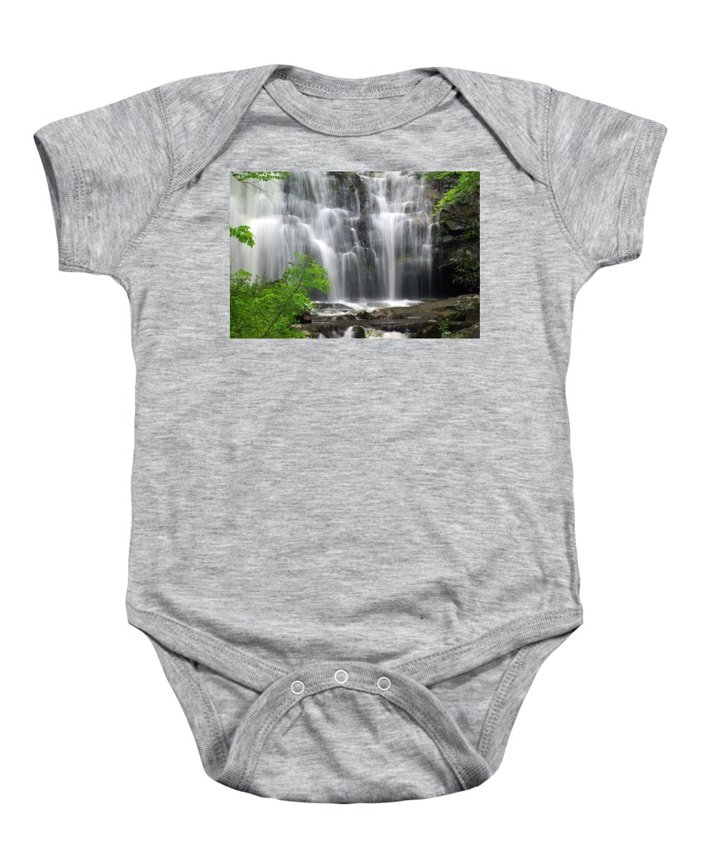 Meigs Falls Baby Onesie featuring the photograph Meigs Falls 2 by Marty Koch