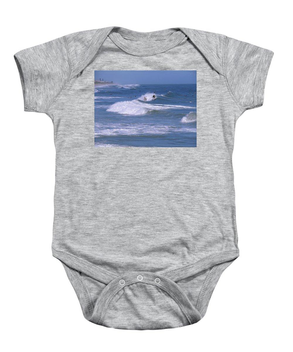 Florida Baby Onesie featuring the photograph Melbourne Beach Florida Usa by Allan Hughes