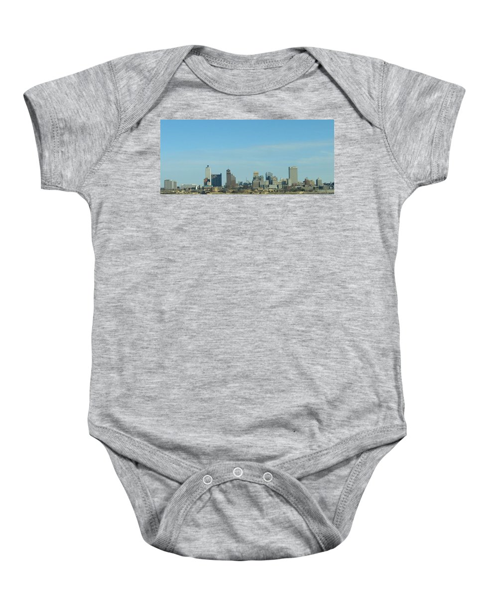 Memphis Baby Onesie featuring the photograph Memphis Skyline by J R Seymour