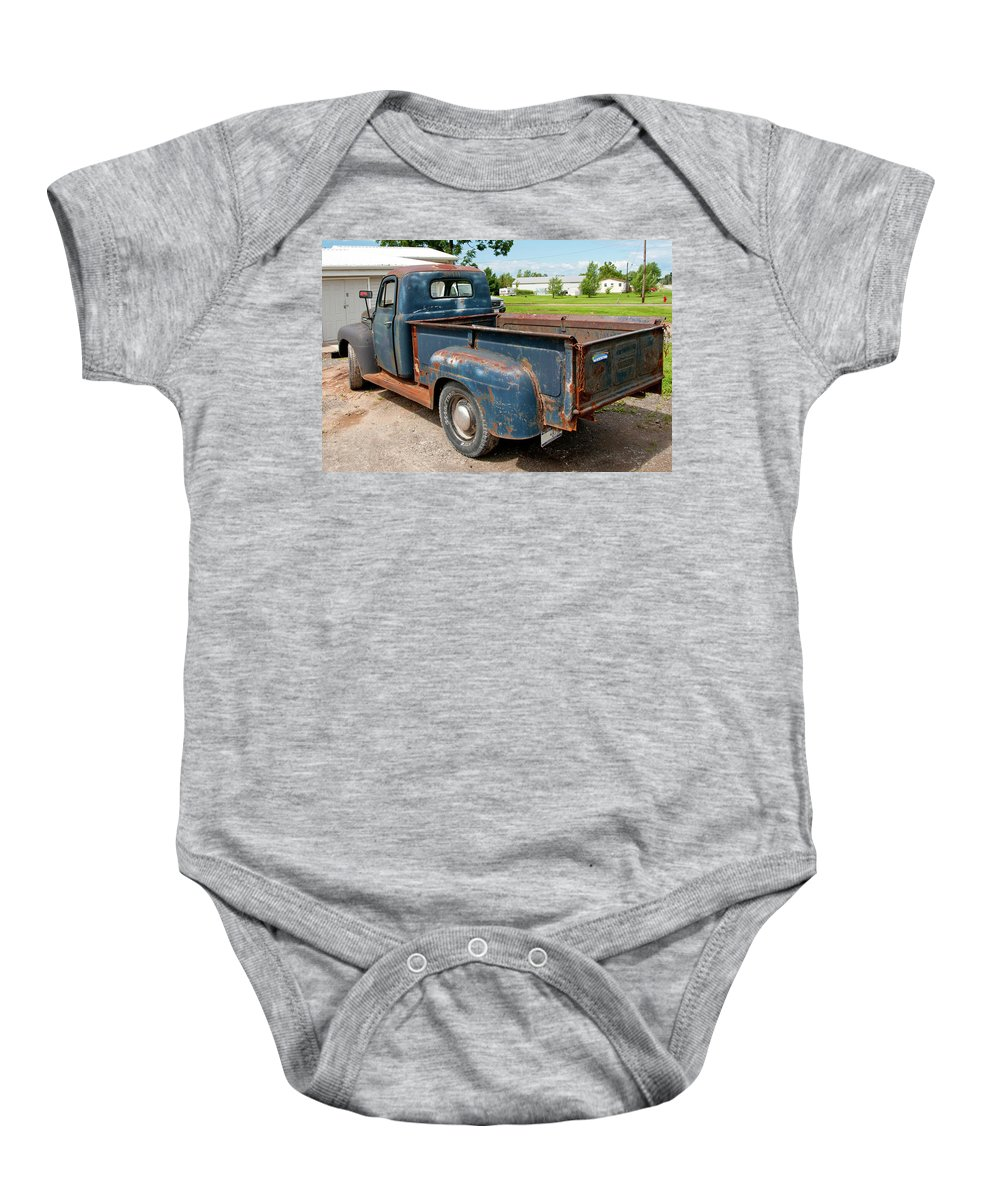 Antique Car Baby Onesie featuring the photograph Mercury 2236 by Guy Whiteley