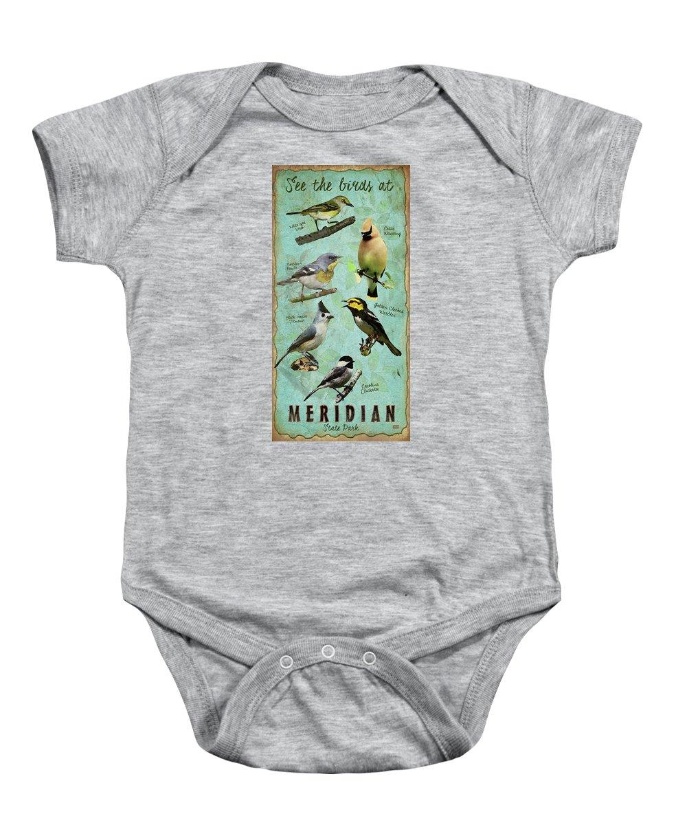 Meridian State Park Baby Onesie featuring the digital art Meridian State Park by Jim Sanders