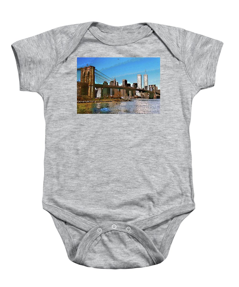 Big Apple Baby Onesie featuring the photograph Metropolis by Anthony Pelosi