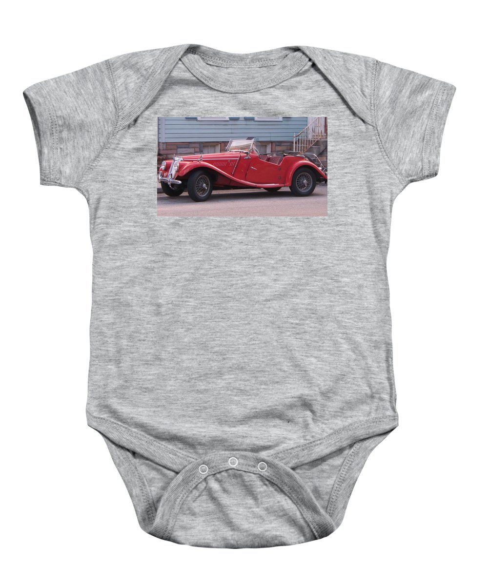 Mg Baby Onesie featuring the painting MG by Eric Schiabor
