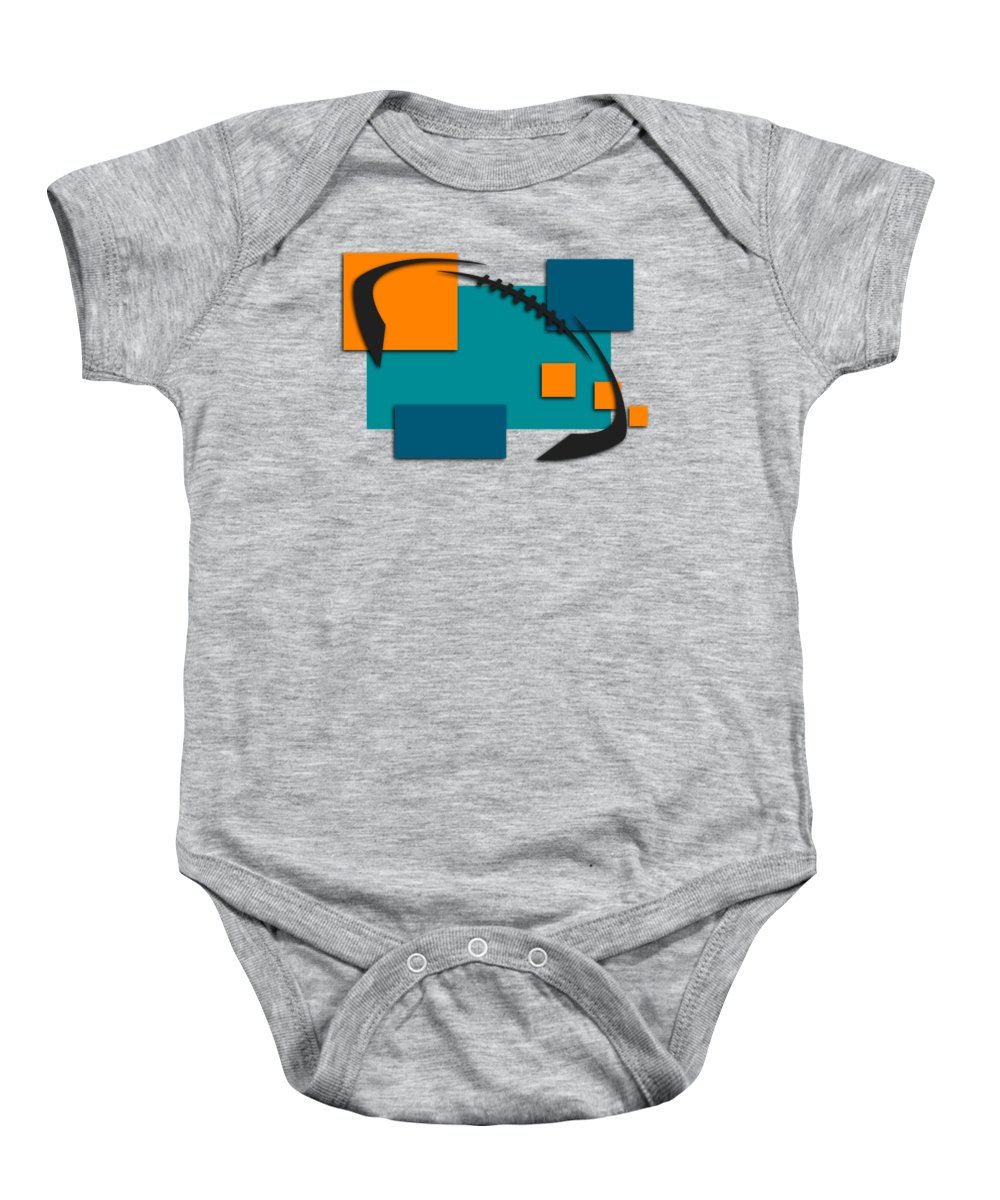 wholesale dealer 15be0 66981 Miami Dolphins Abstract Shirt Baby Onesie