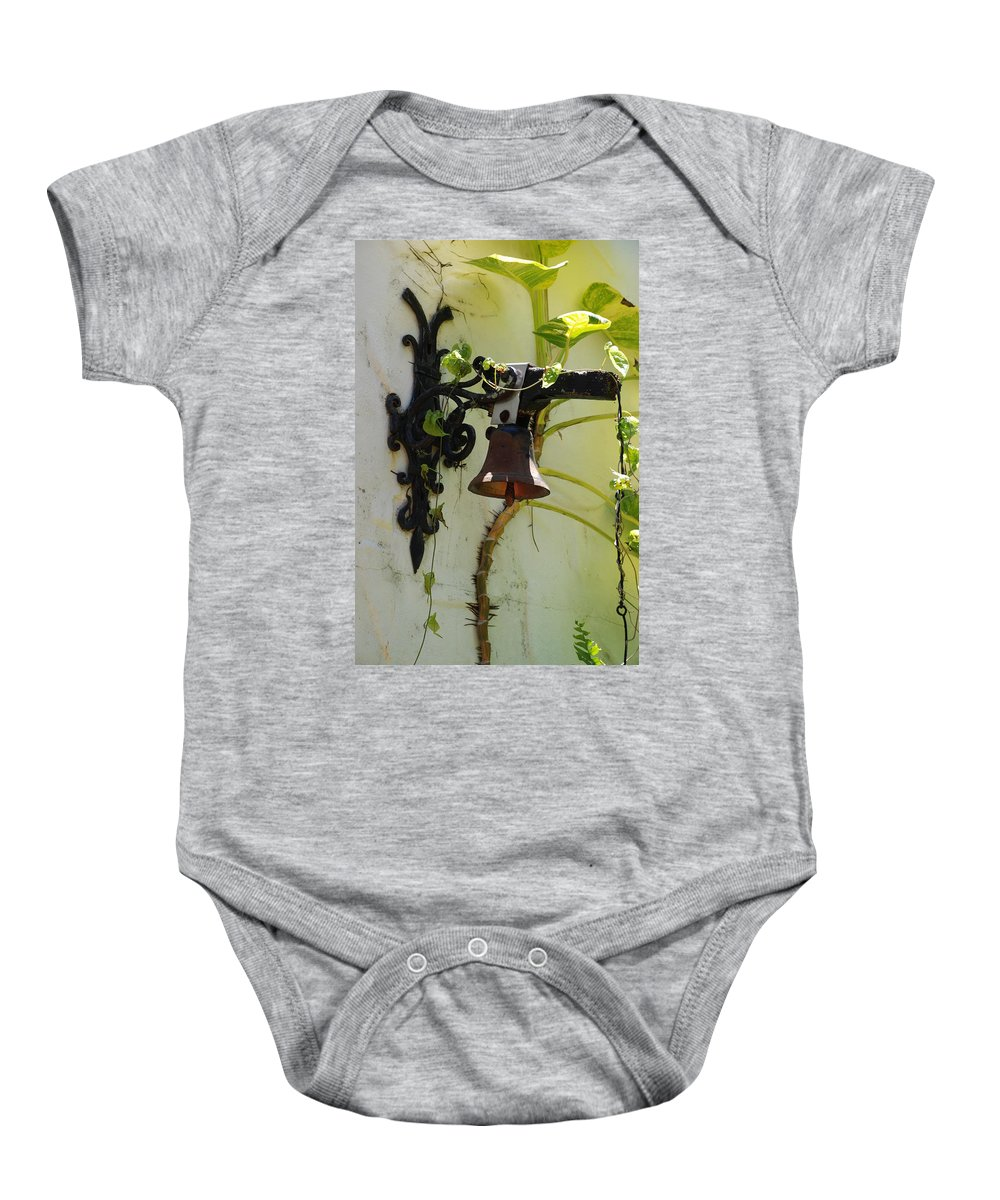 Architecture Baby Onesie featuring the photograph Miami Monastery Bell by Rob Hans