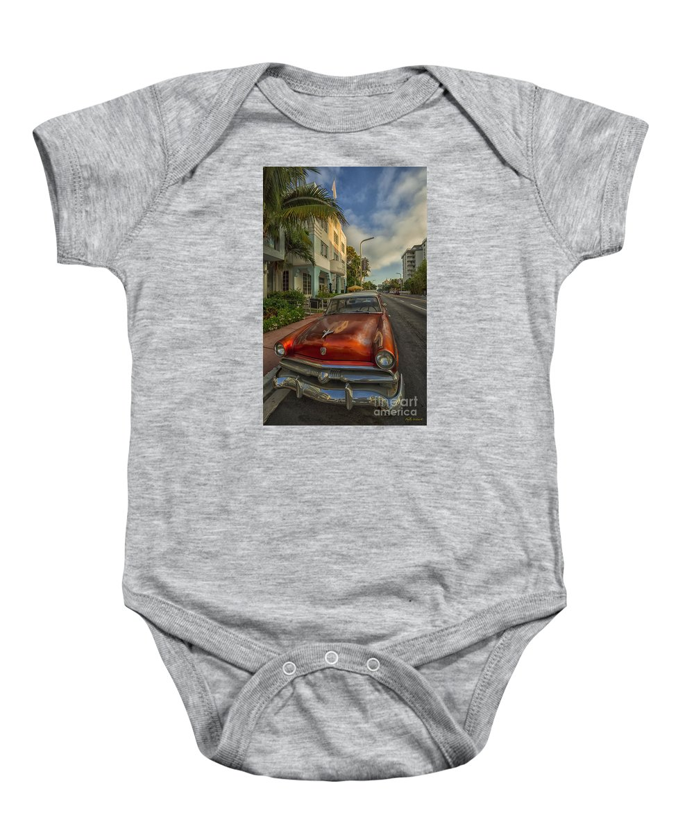 Miami Baby Onesie featuring the photograph Miami Ride by Phyllis Webster