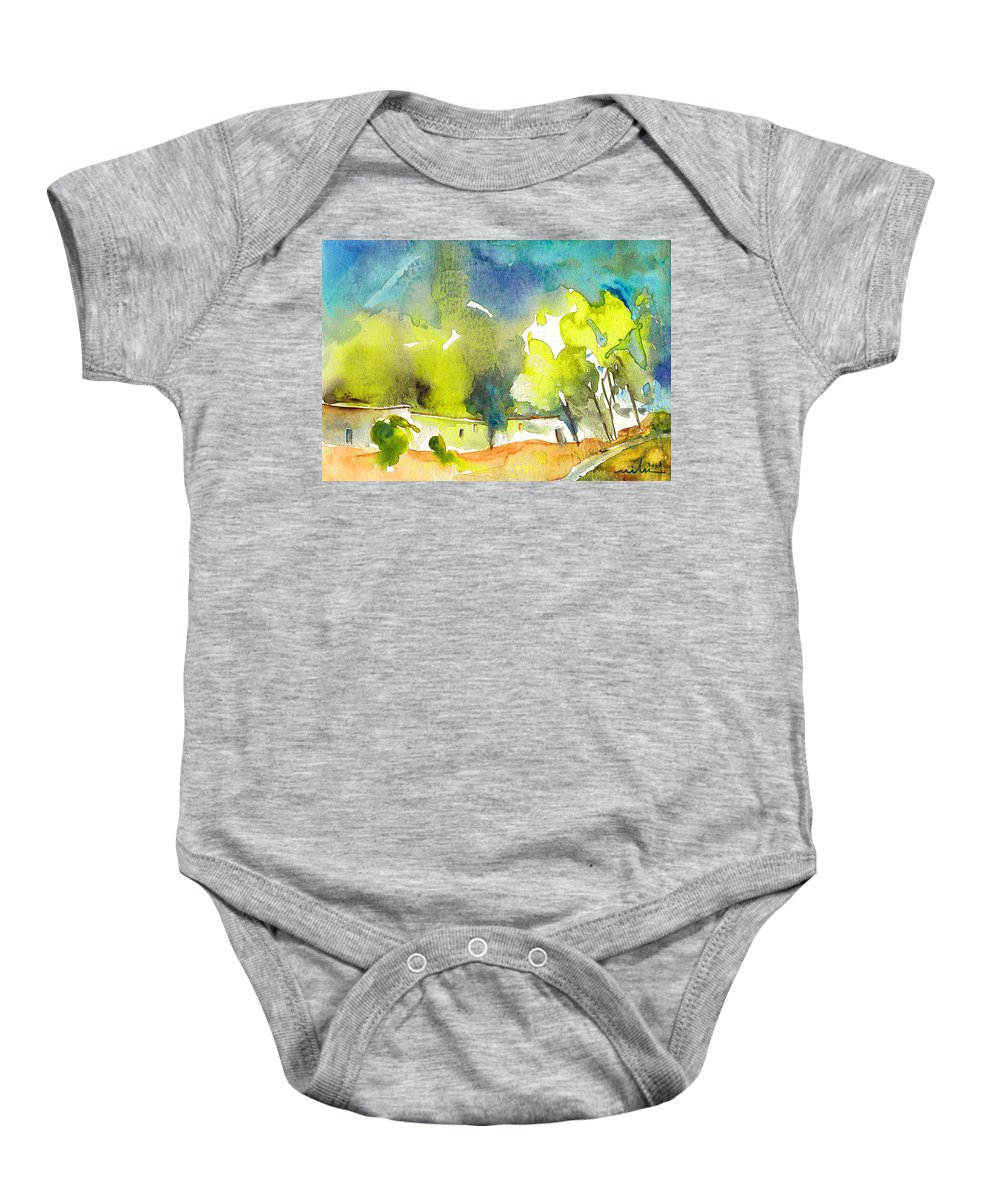 Watercolour Landscape Baby Onesie featuring the painting Midday 14 by Miki De Goodaboom
