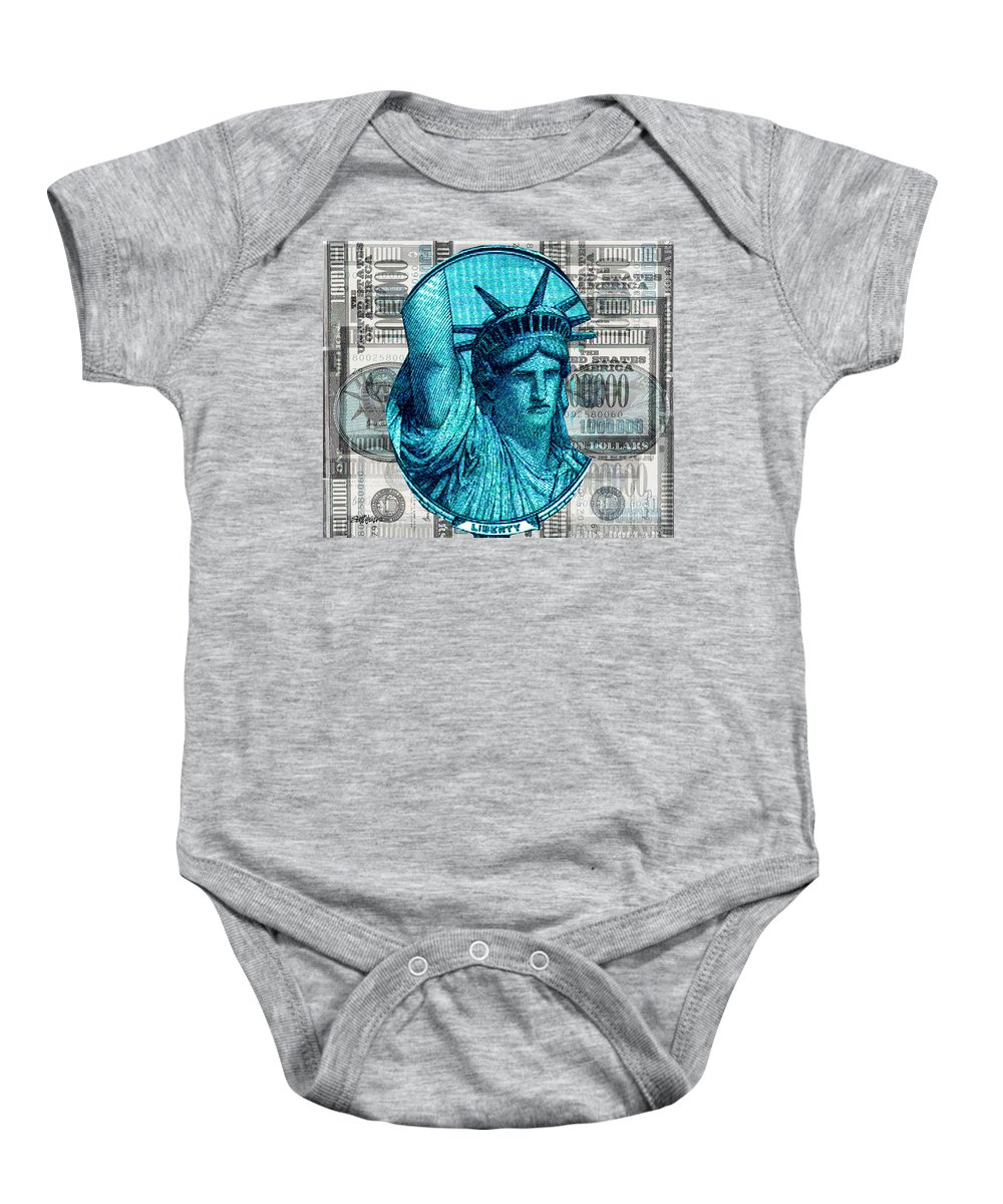 Millions Baby Onesie featuring the digital art Million Dollar Pile by Seth Weaver