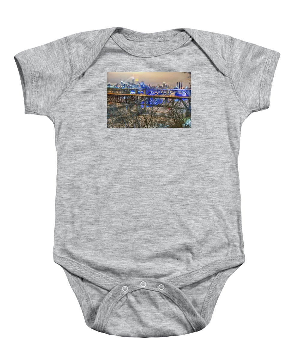Minneapolis Bridges Baby Onesie featuring the photograph Minneapolis Bridges by Craig Voth