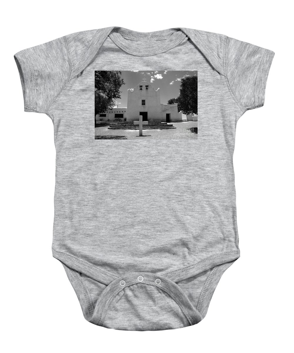 Mission San Jose Baby Onesie featuring the photograph Mission San Jose by David Lee Thompson