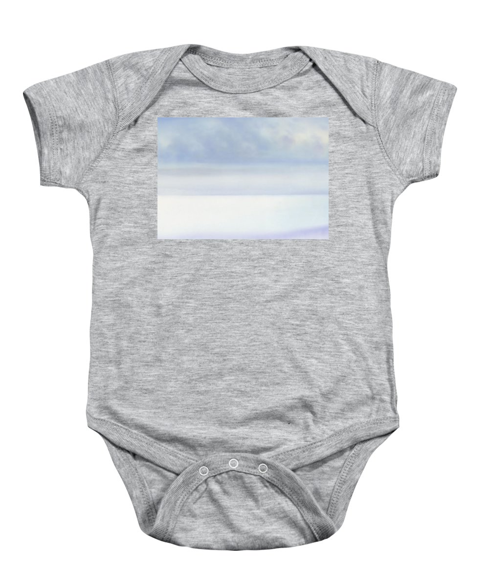 Moana Pearl Baby Onesie featuring the painting Moana Pearl 2 by Kevin Smith
