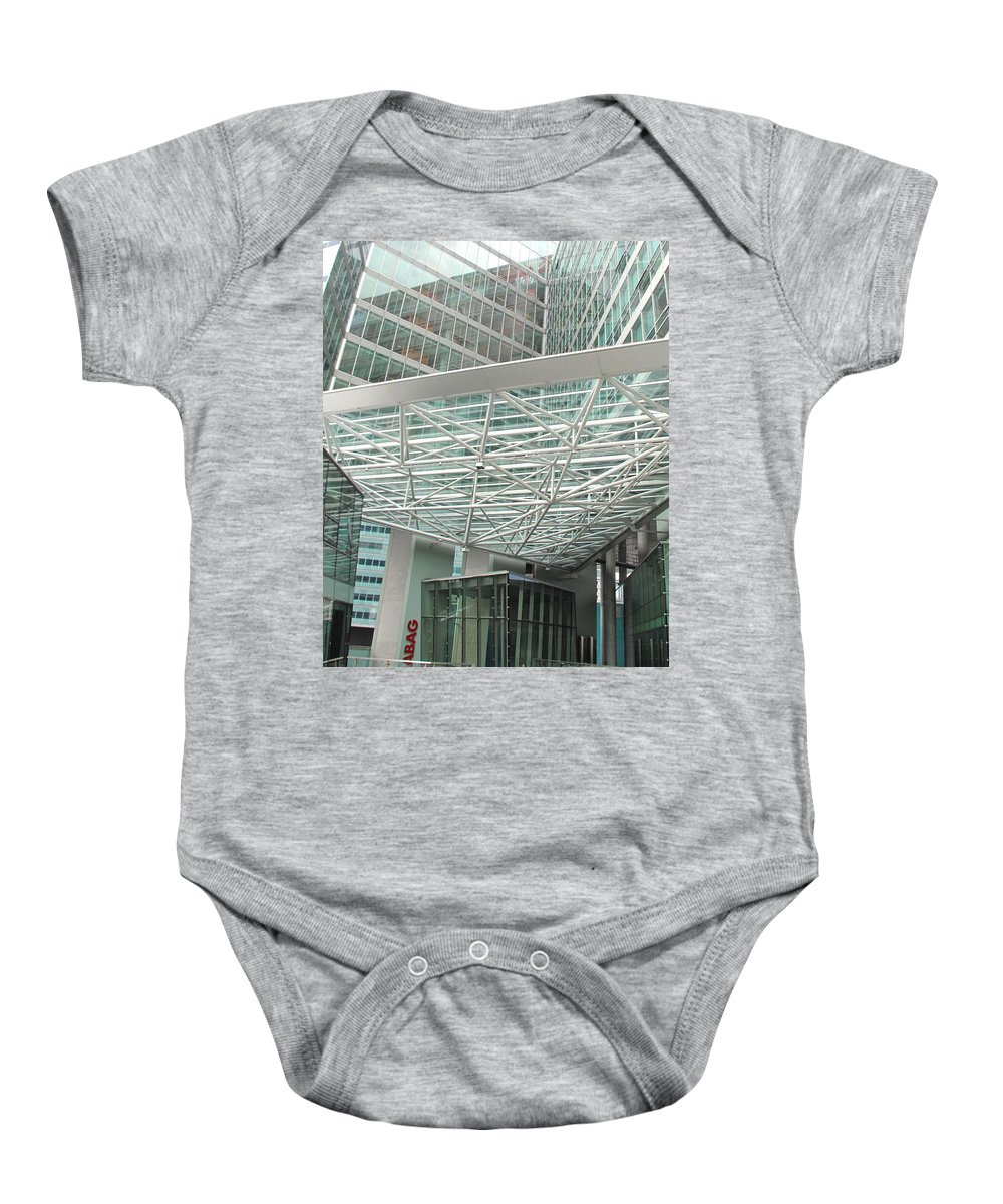 Vienna Baby Onesie featuring the photograph Modern Vienna by Ian MacDonald