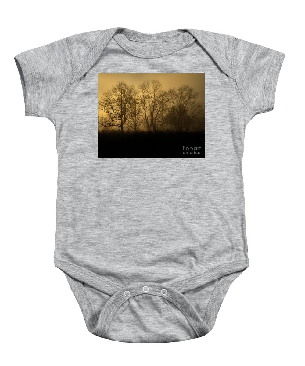Nature Baby Onesie featuring the photograph Morning Fog, #2, Smoky Mountains, Tennessee by Stanton Tubb