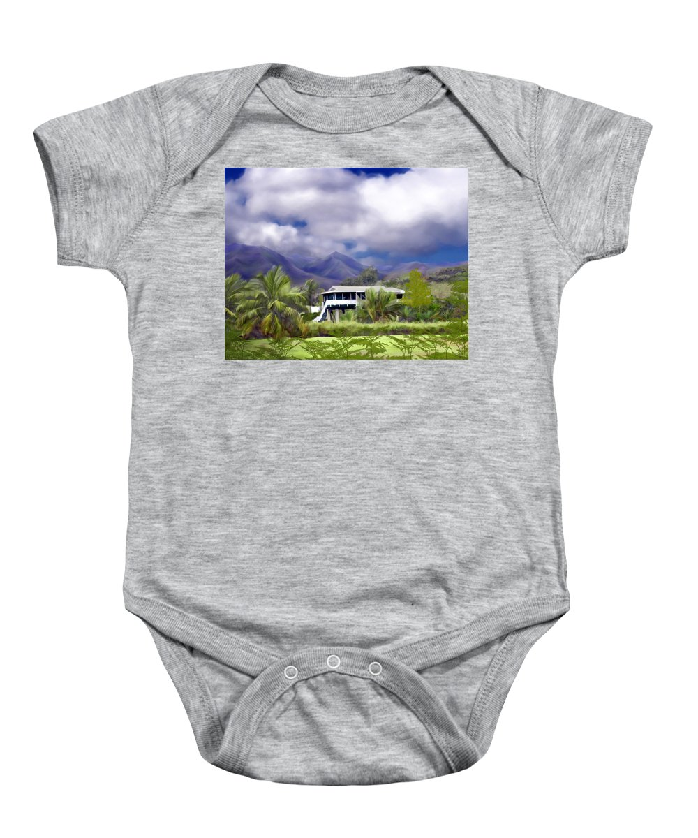 Hawaii Baby Onesie featuring the photograph Moloa A Bay Hideaway by Kurt Van Wagner