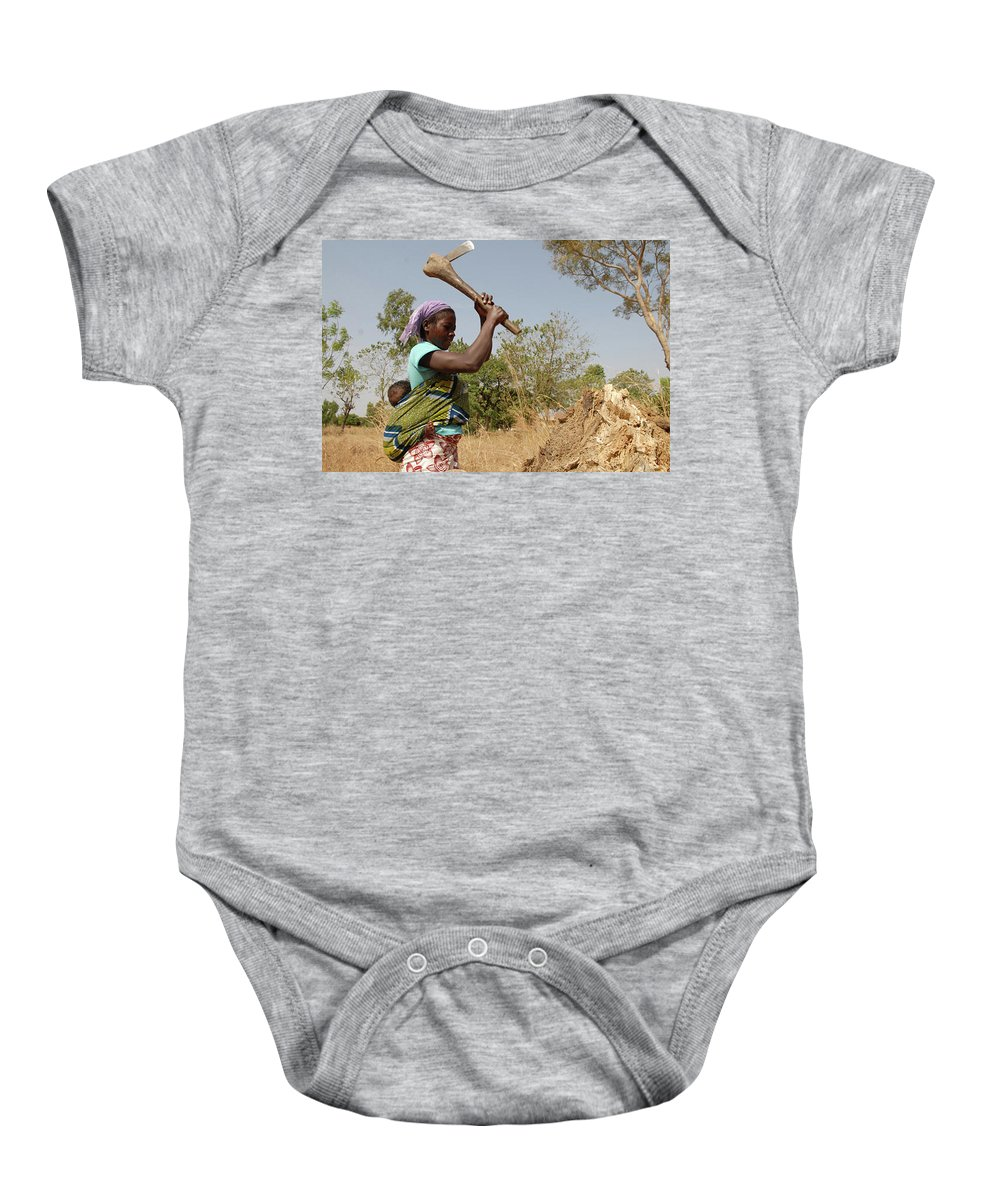 Benin Baby Onesie featuring the photograph Mom's Work Day by Sergio Sato
