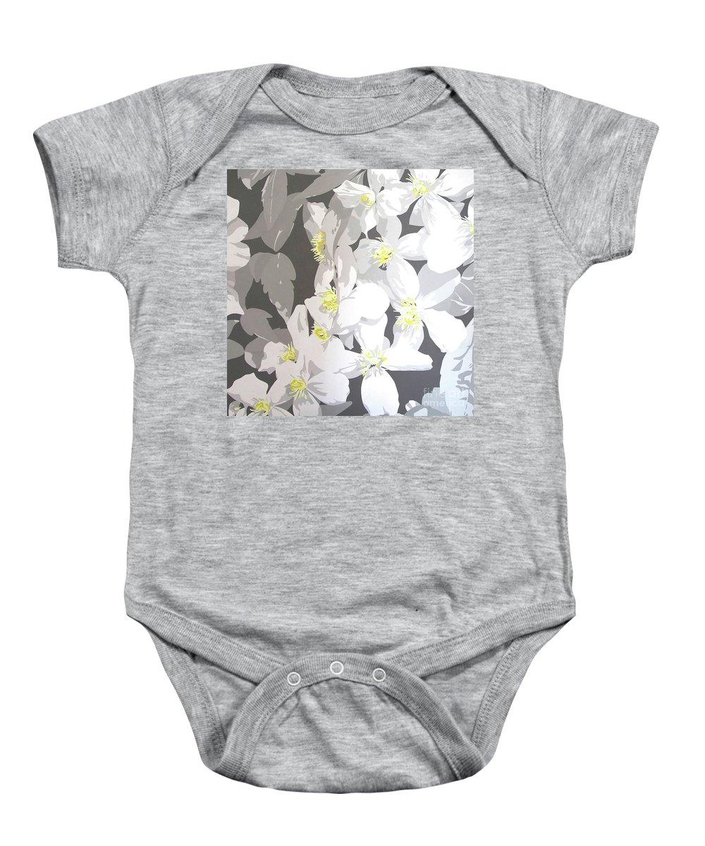 Clematis Baby Onesie featuring the painting Montana by Susan Porter