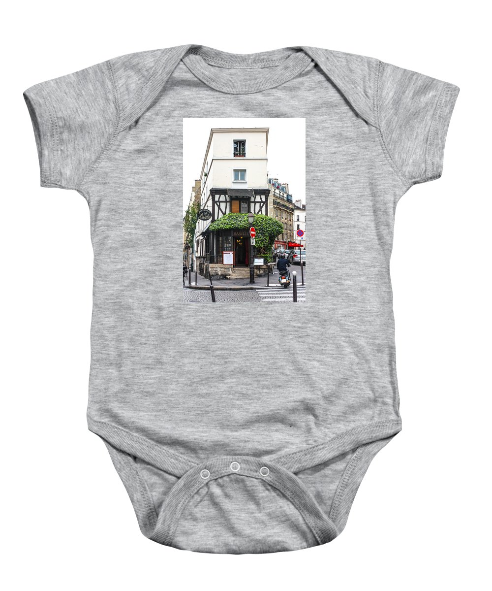 Architecture Baby Onesie featuring the photograph Montmartre by Shaun McDonald