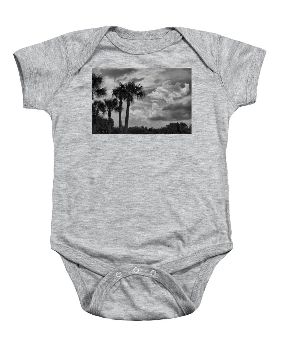 Florida Baby Onesie featuring the photograph Moody Florida Sky by Deborah Benoit