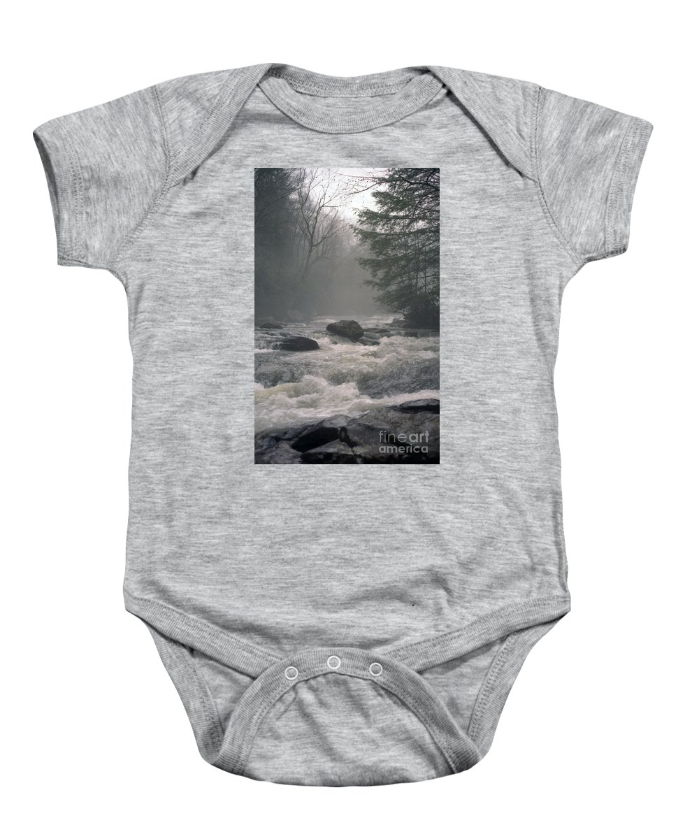 Rivers Baby Onesie featuring the photograph Morning At The River by Richard Rizzo