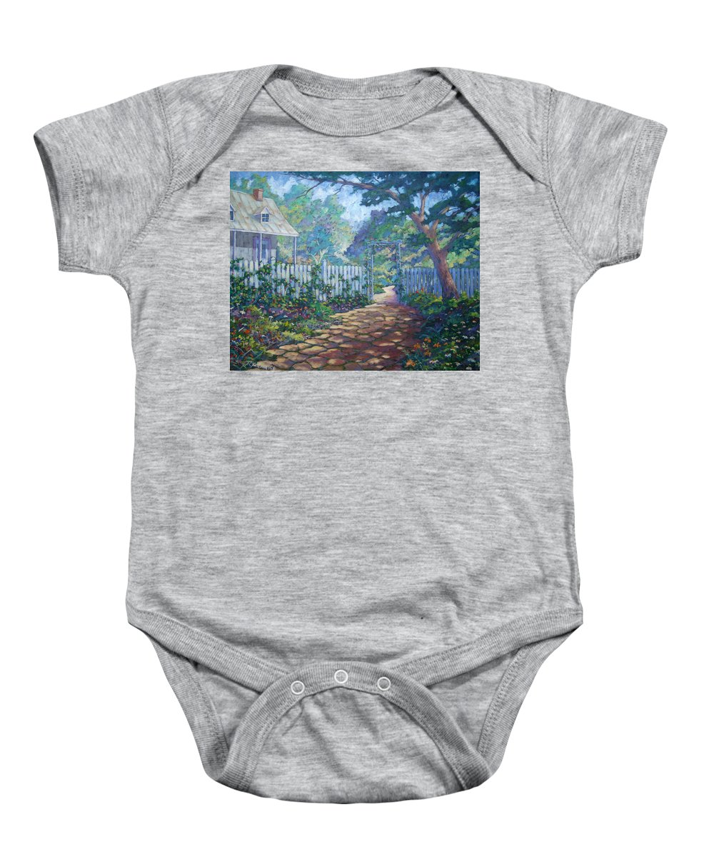 Painter Art Baby Onesie featuring the painting Morning Glory by Richard T Pranke