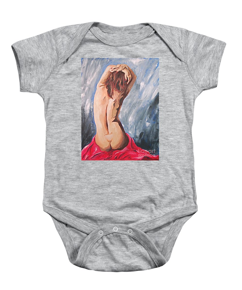 Nude Baby Onesie featuring the painting Morning Light 2 by Herschel Fall