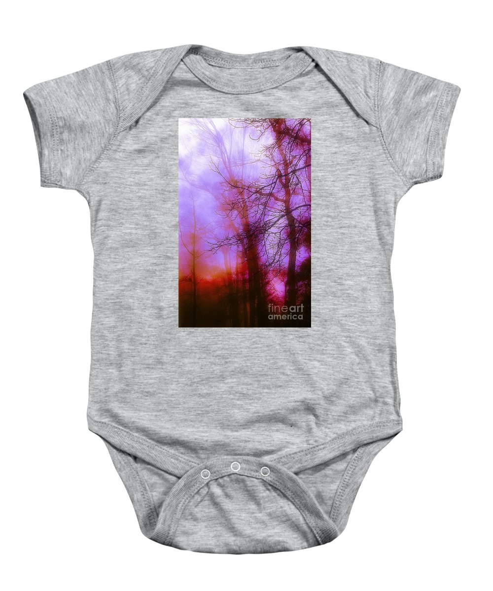 Morning Mist Images Baby Onesie featuring the photograph Morning Mist by Judi Bagwell