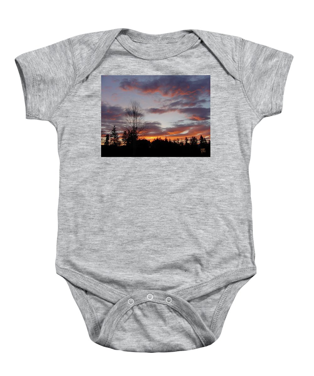 Sun Baby Onesie featuring the photograph Morning Silhouetted - 1 by Shirley Heyn