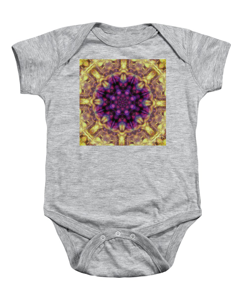 Kaleidoscope Baby Onesie featuring the photograph 10301 Morning Sky Kaleidoscope 01b by Colin Hunt