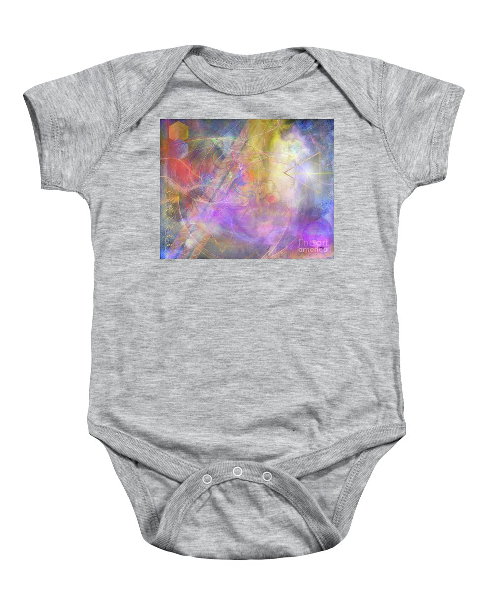Morning Star Baby Onesie featuring the digital art Morning Star by John Beck