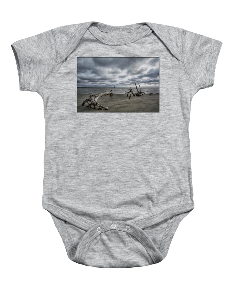 Folly Beach Baby Onesie featuring the photograph Morris Island Lighthouse by Erika Fawcett