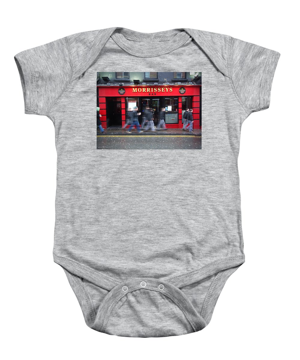Pub Baby Onesie featuring the photograph Morrissey by Tim Nyberg