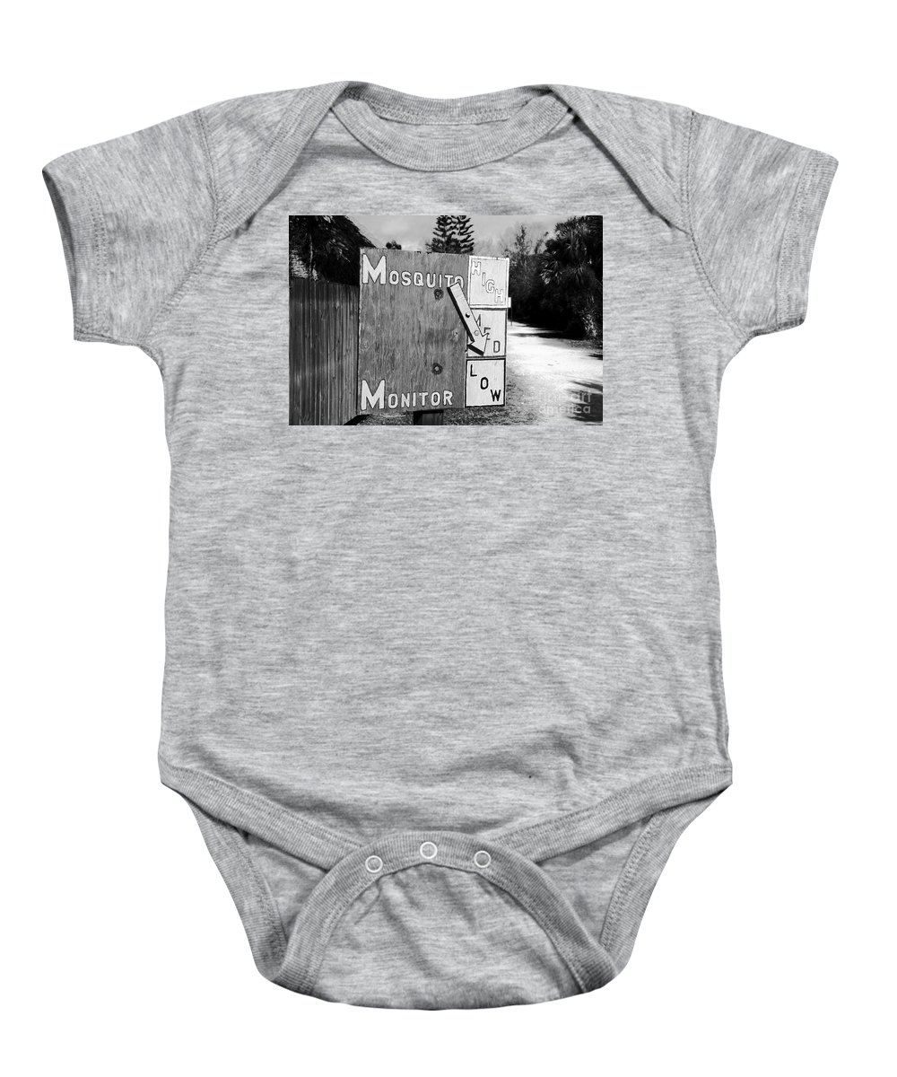 Mosquito Baby Onesie featuring the photograph Mosquito Monitor by David Lee Thompson