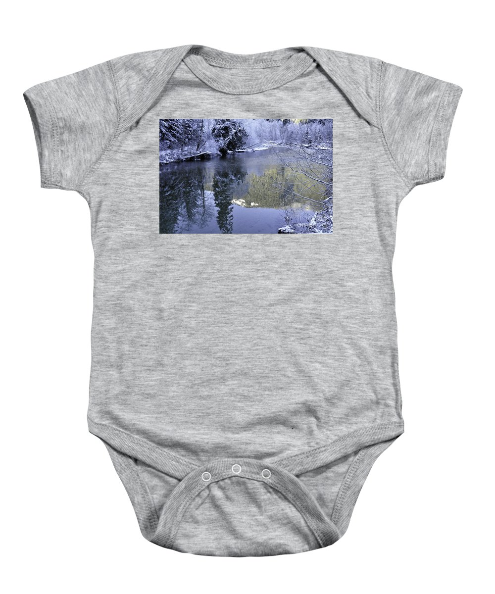 Clay Baby Onesie featuring the photograph Mother Natures Chilling Touch by Clayton Bruster