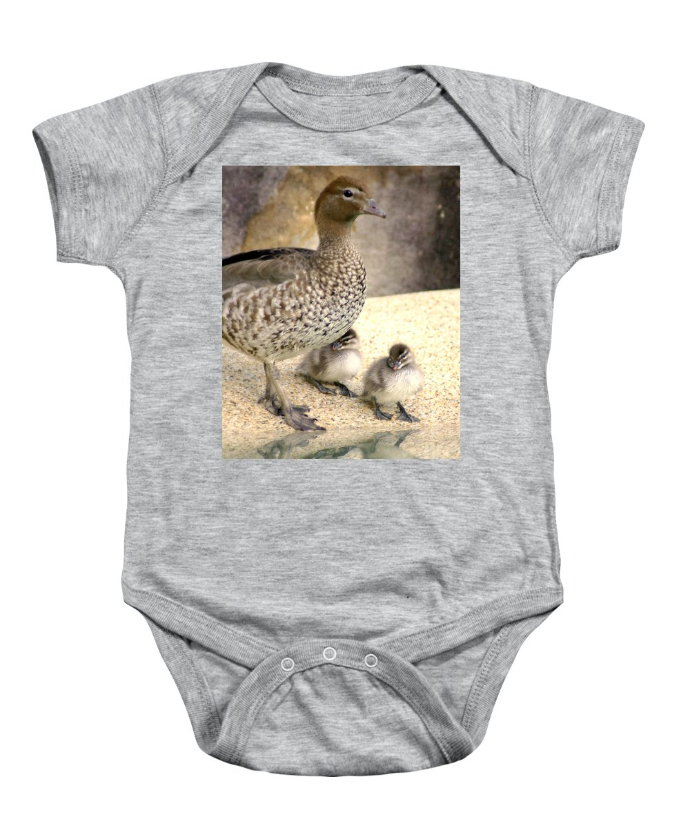 Animals Baby Onesie featuring the photograph Mother Of Twins by Holly Kempe