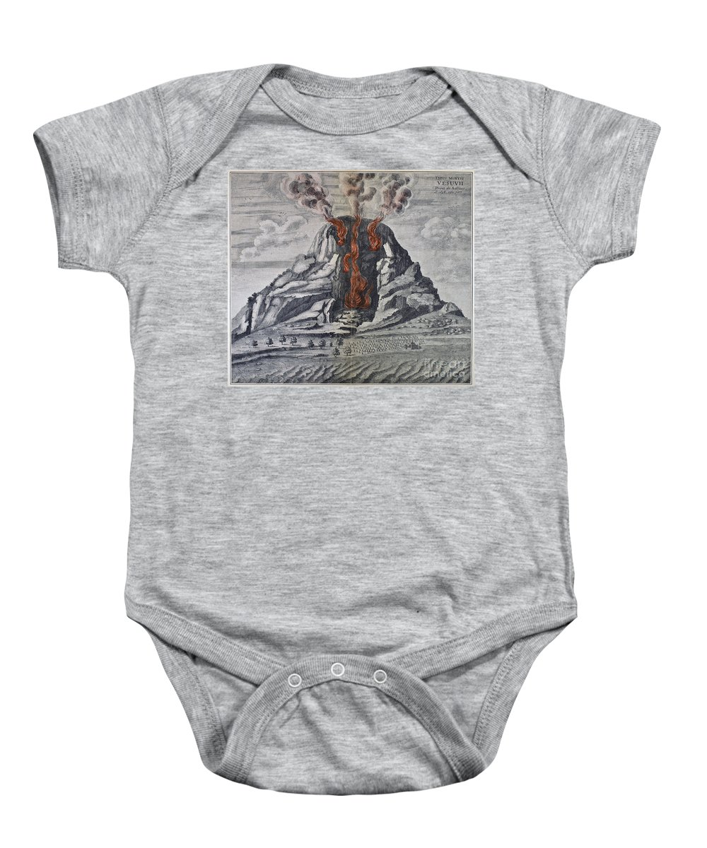 1665 Baby Onesie featuring the photograph Mount Vesuvius, 1665 by Granger