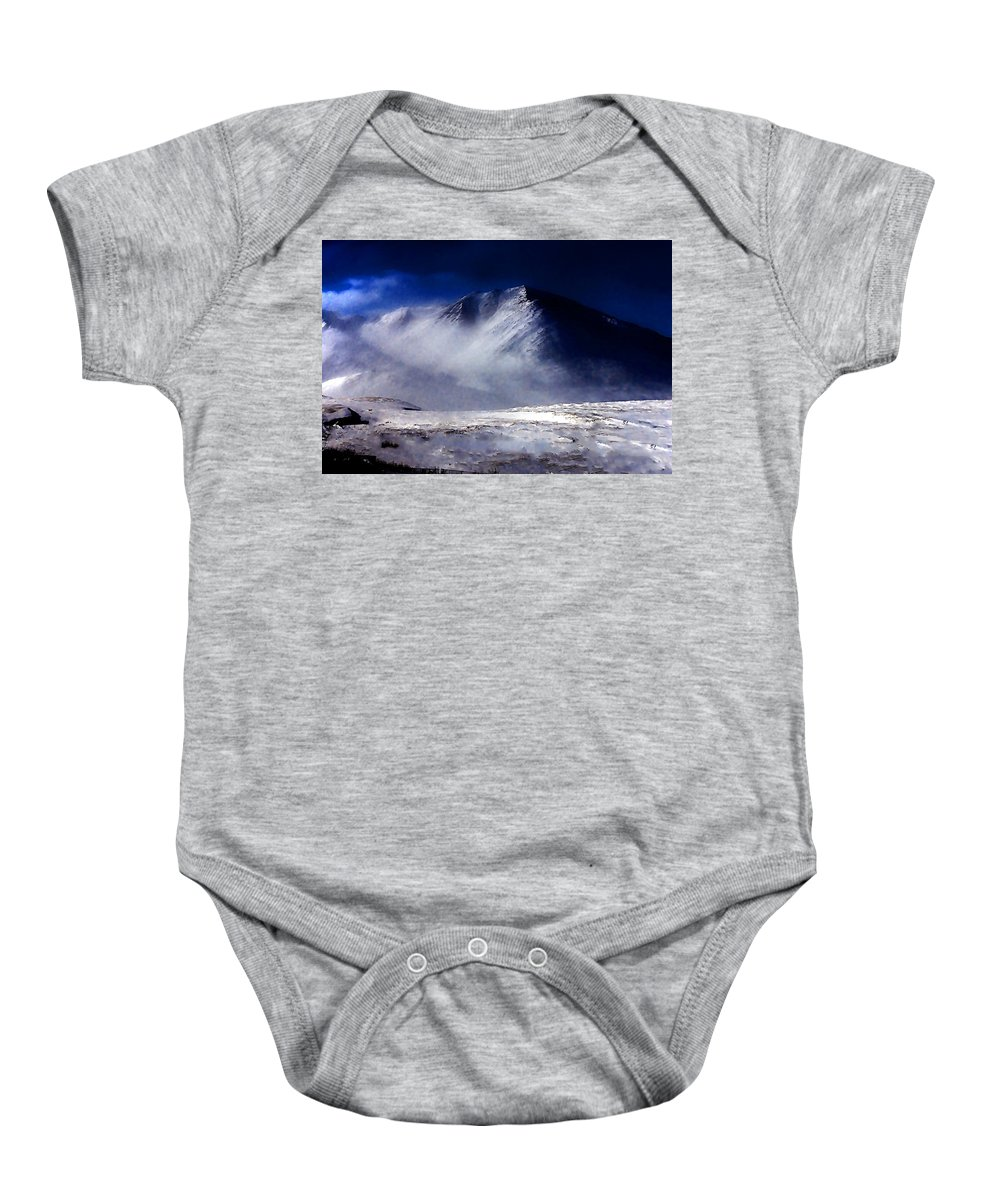 Mountain Baby Onesie featuring the photograph Mountain Of Alaska by Galeria Trompiz