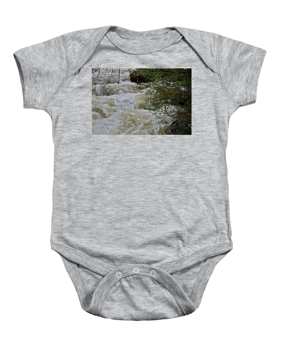 Stream Baby Onesie featuring the photograph Mountain Stream by Diana Hatcher