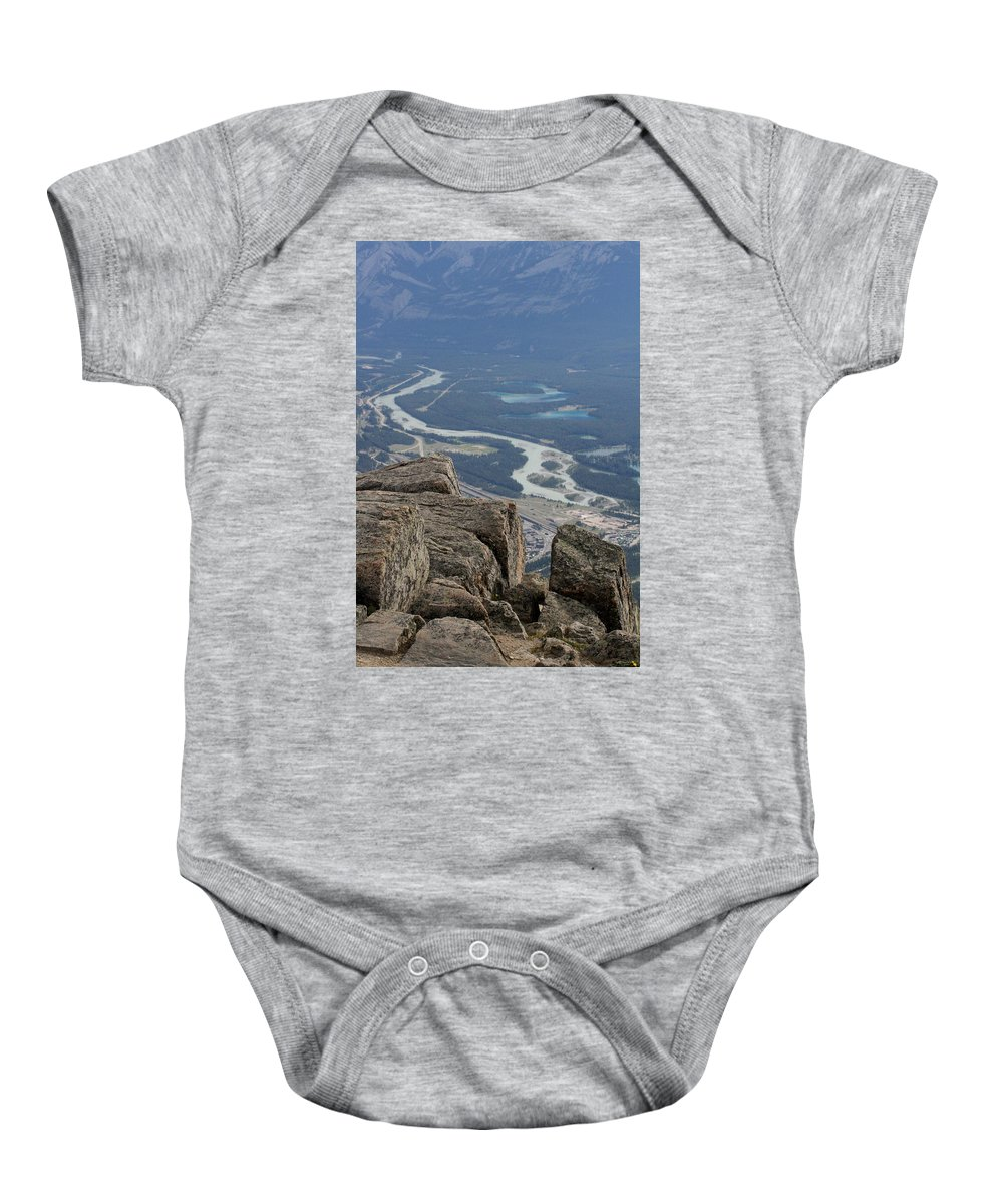 Rocky Mountains Baby Onesie featuring the photograph Mountain View by Mary Mikawoz