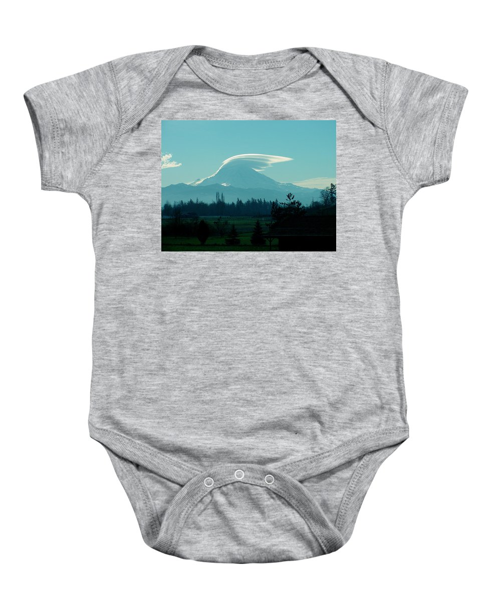 Lenticular Baby Onesie featuring the photograph Mountain Wings by Shirley Heyn