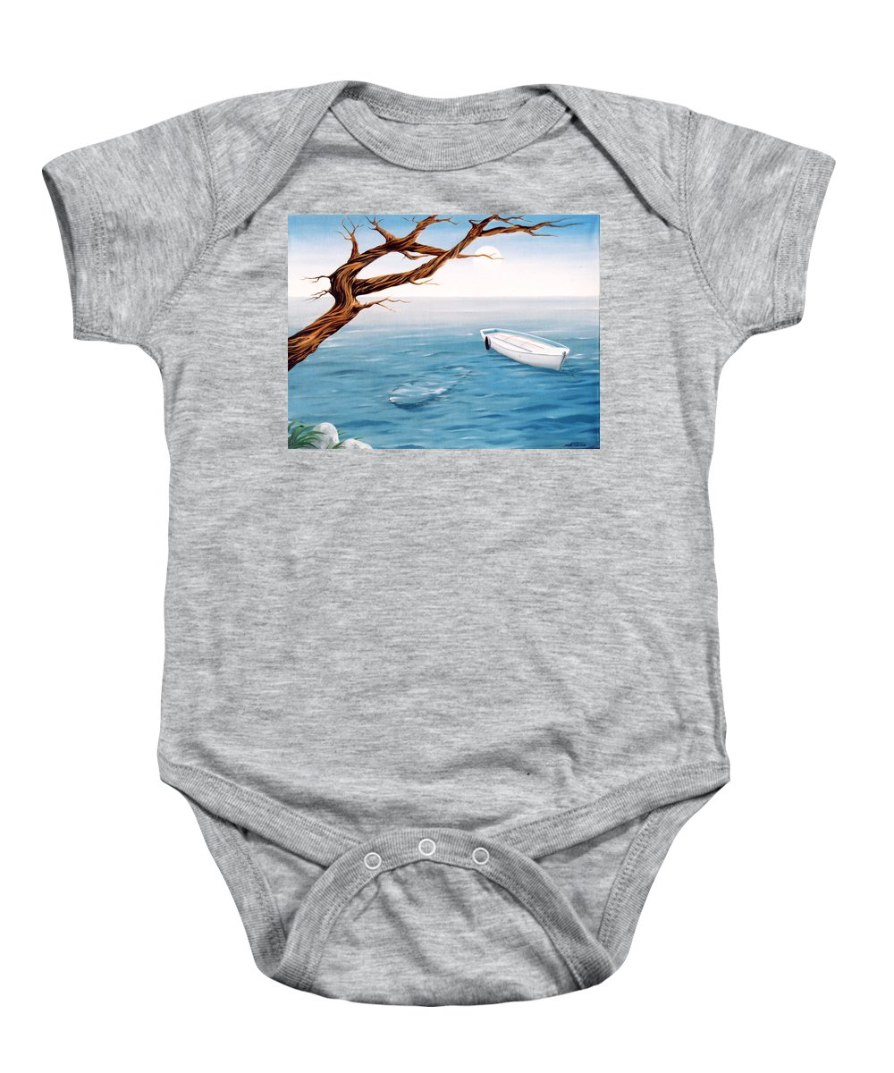 Seascape Prints Baby Onesie featuring the painting Mourning Spring by Mark Cawood