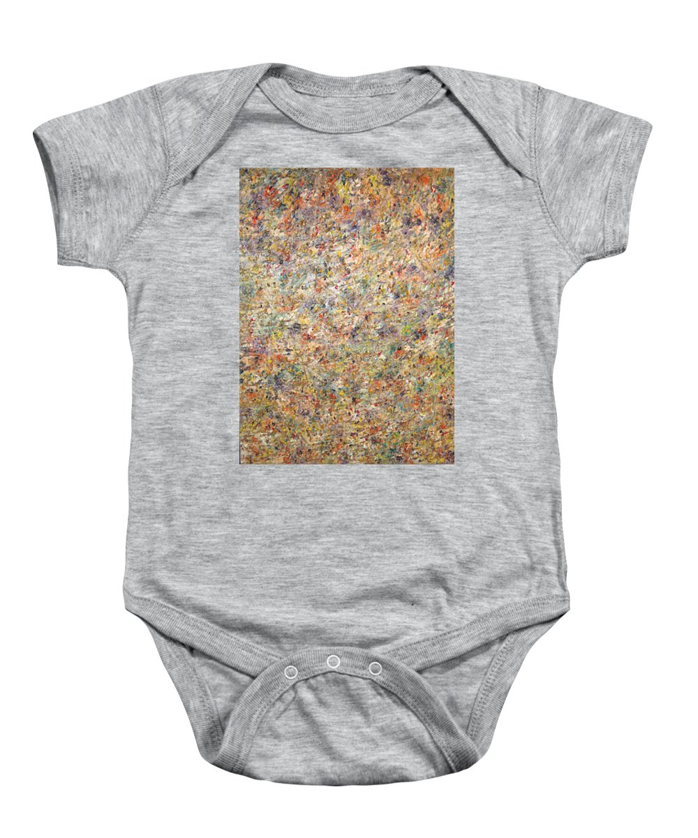 Moveonart! Digital Gallery Baby Onesie featuring the painting Moveonart Color Code 1 by Jacob Kanduch