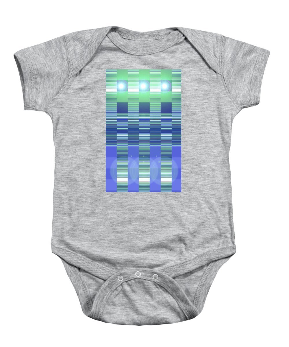 Moveonart! Digital Gallery Baby Onesie featuring the digital art Moveonart Color Duo Program Two by Jacob Kanduch