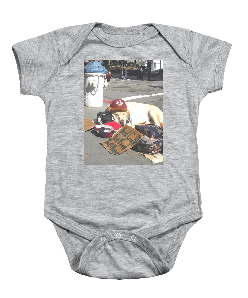 Moveonart Digital Gallery San Francisco California Lower Nob Hill Jacob Kane Kanduch Baby Onesie featuring the digital art Moveonart Everyday In Sf 1 by Jacob Kanduch