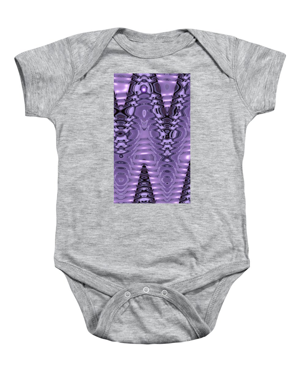 Moveonart! New York / San Francisco / Oklahoma City Jacob Kanduch Baby Onesie featuring the digital art Moveonart Light Wave Vibe 1 by Jacob Kanduch