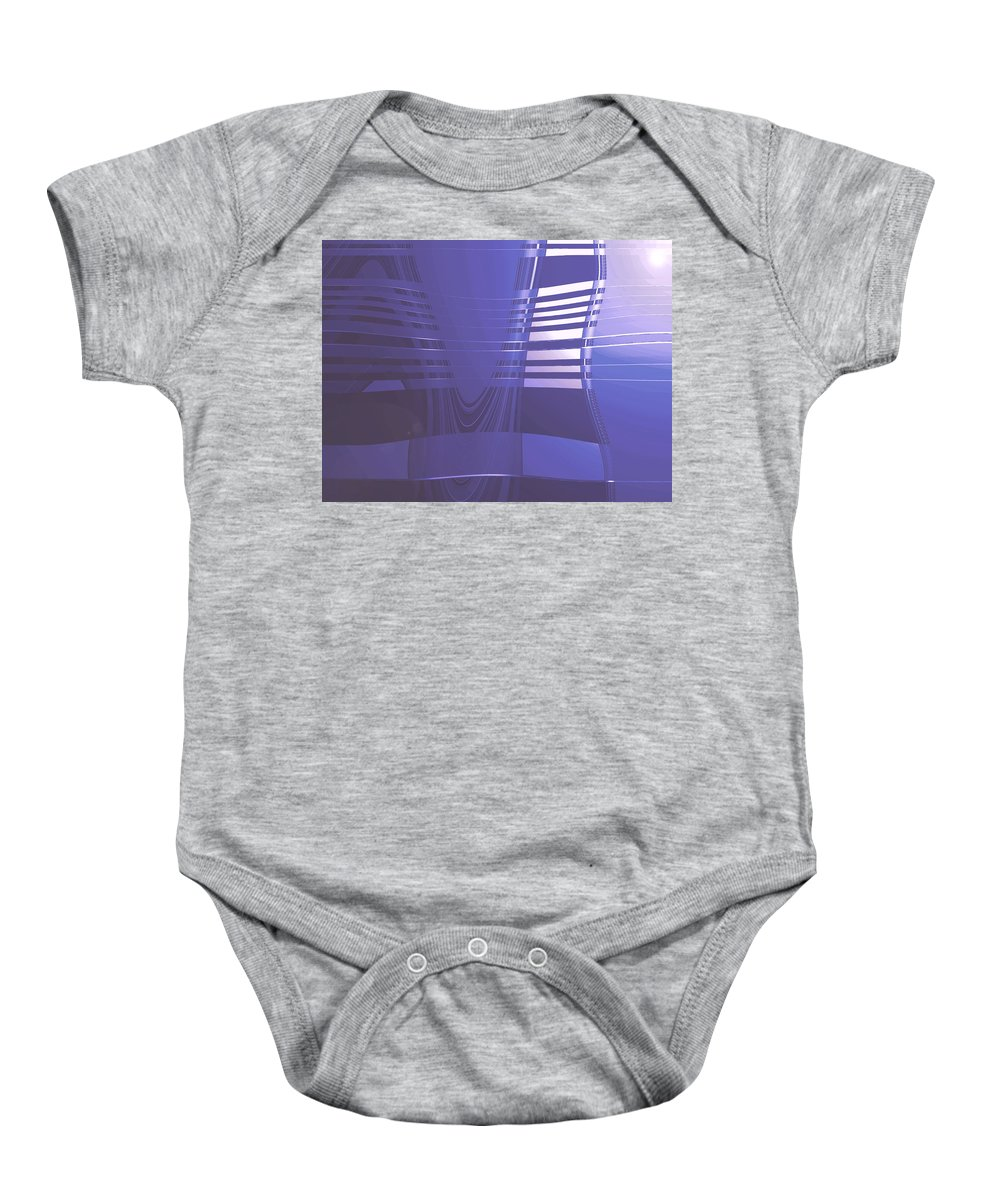Moveonart! Digital Gallery Lower Nob Hill San Francisco California Jacob Kanduch Baby Onesie featuring the digital art Moveonart New American Indian Architecture 1 by Jacob Kanduch