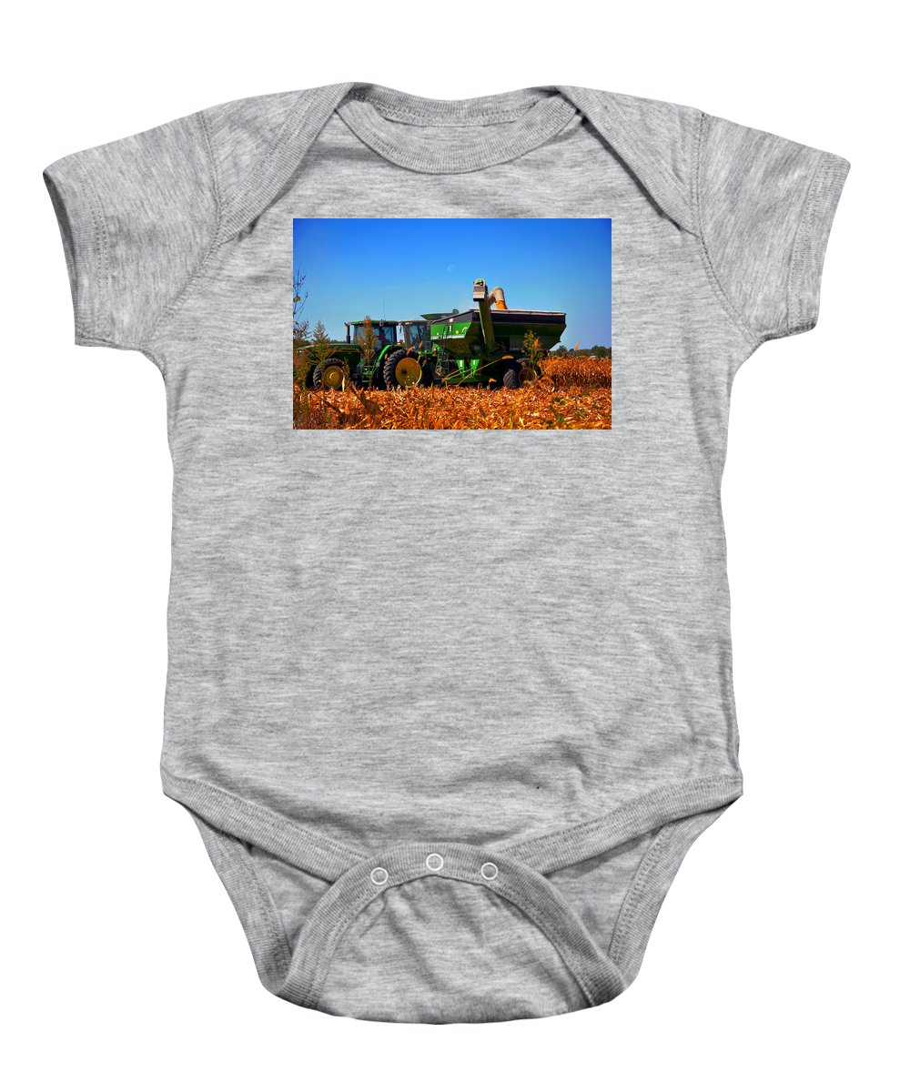 Farm Baby Onesie featuring the photograph Mrs John Deere by Brittany Horton