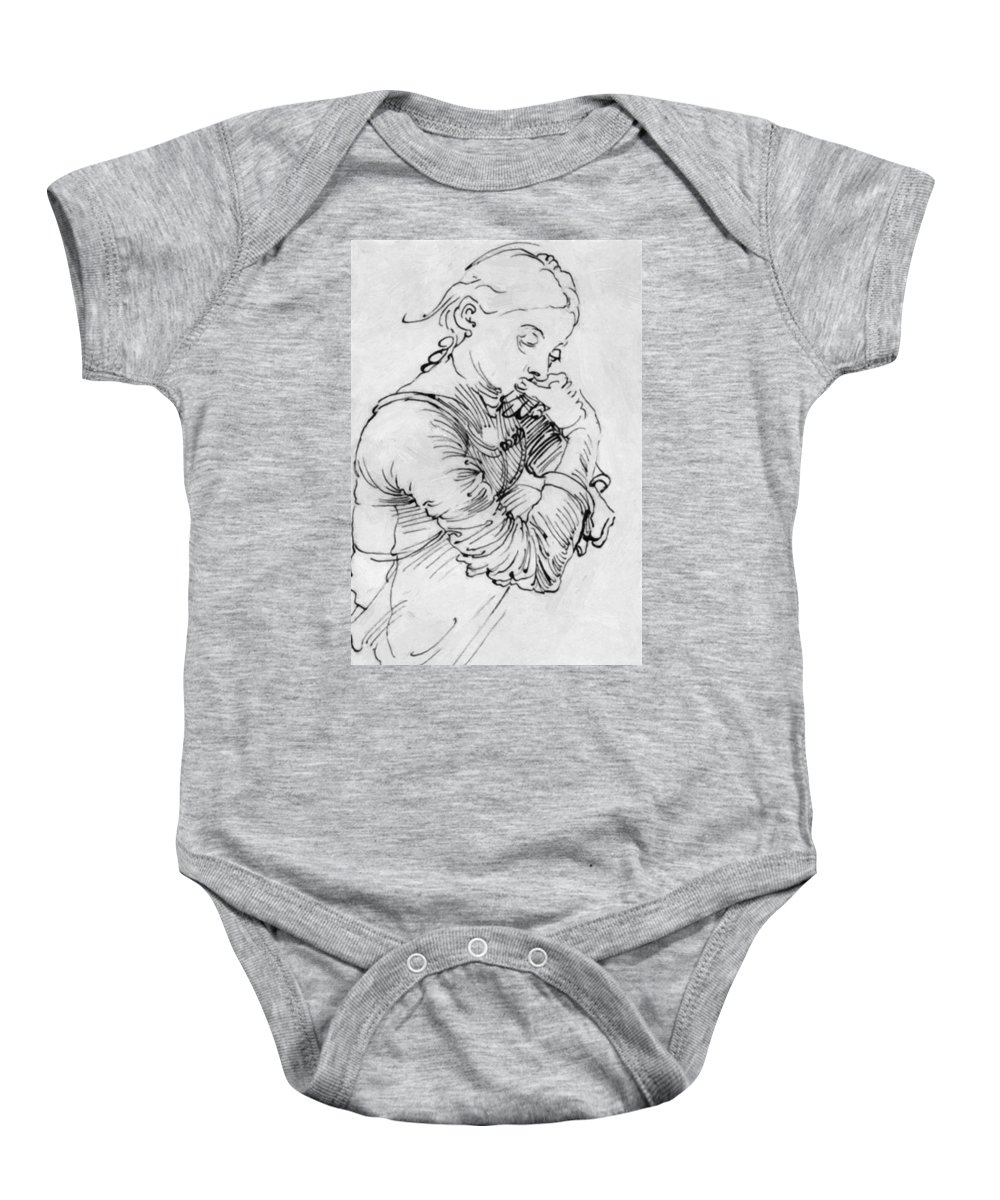 My Baby Onesie featuring the painting My Agnes 1494 by Durer Albrecht