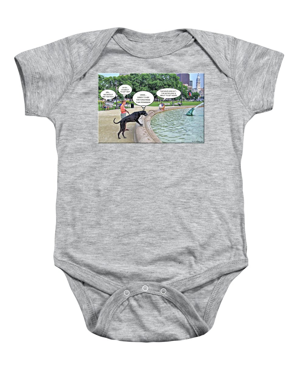 2d Baby Onesie featuring the photograph My Dog Tiny by Brian Wallace